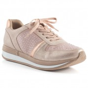 Zapatillas Energy con Cordones y Hotfix Strass