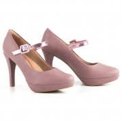 Sandalia Mary Jane  Plataforma Stiletto